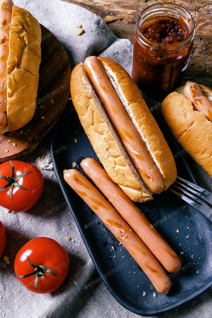 Köstlicher Hotdog