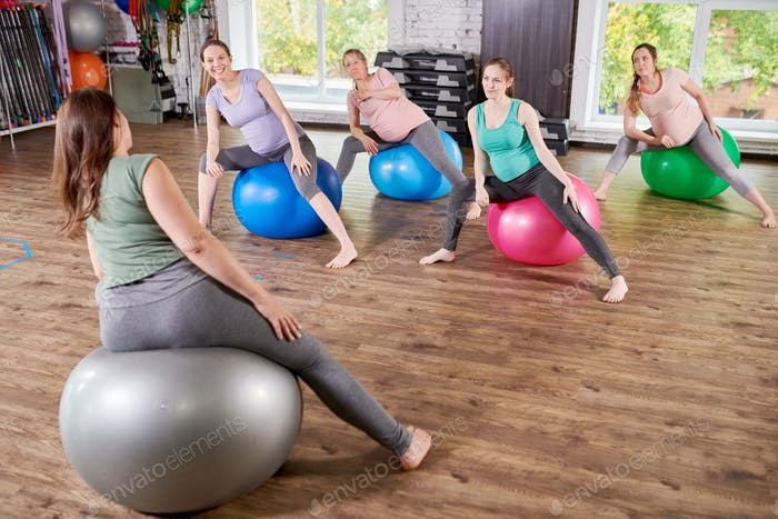 Group of Pregnant Women in Fitness Class