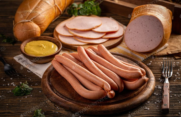 Salchichas frescas de cerdo hot dog
