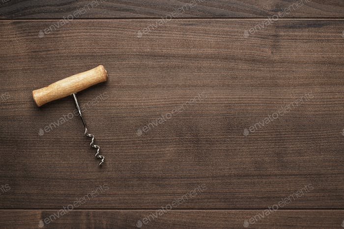 Retro Wooden Corkscrew