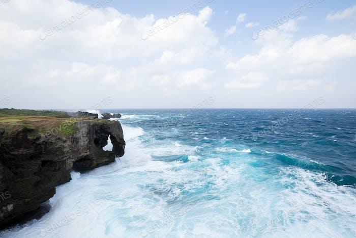 Manzamo Cape in Okinawa, Japan
