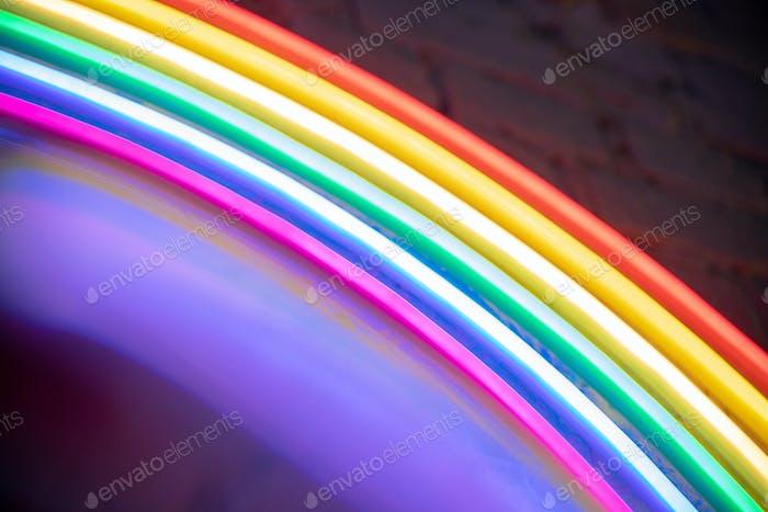 Rainbow colors neon background