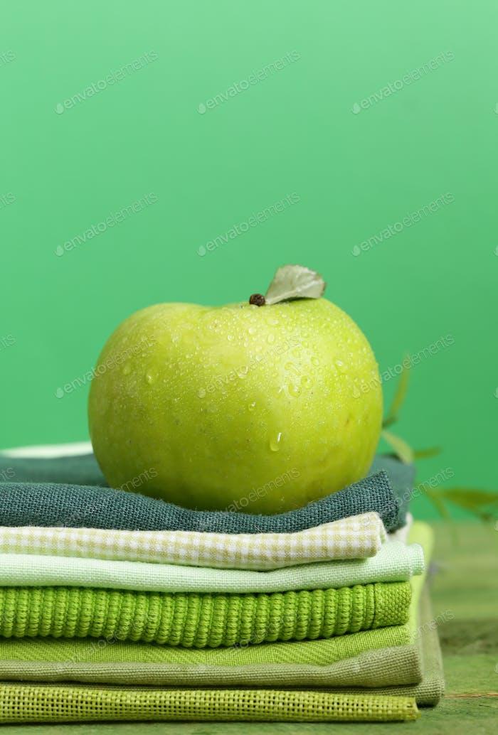 Frischer grüner Apfel