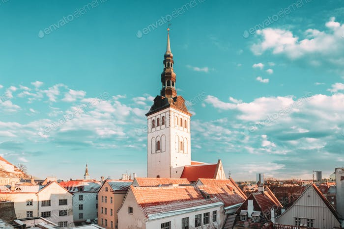 Tallinn, Estonia. Church Of St. Nicholas Niguliste Kirik Is Medieval Former Lutheran Church. Today