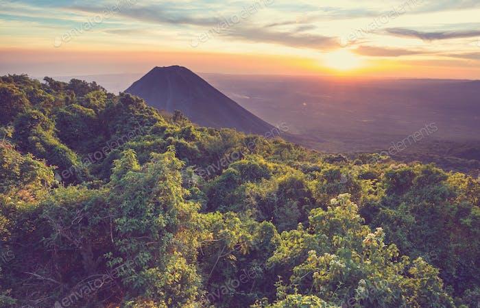 Volcán en Salvador
