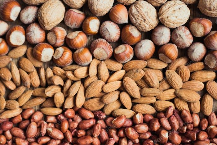 Mix of nuts Almonds, walnuts, peanuts, hazelnuts , sunflower seeds