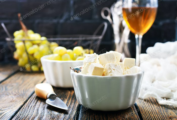 wine,grape and cheese