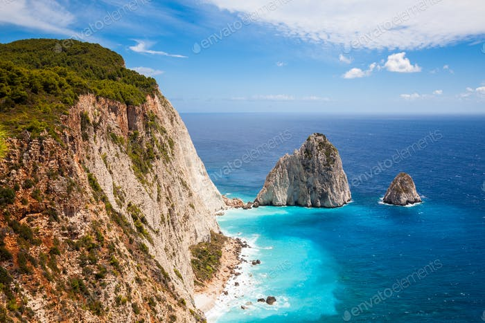 Keri cliffs in Zakynthos (Zante) island in Greece