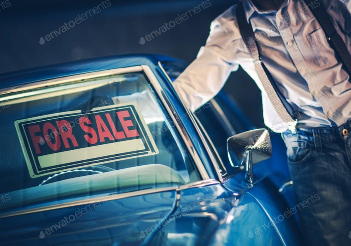 Selling Car Sign