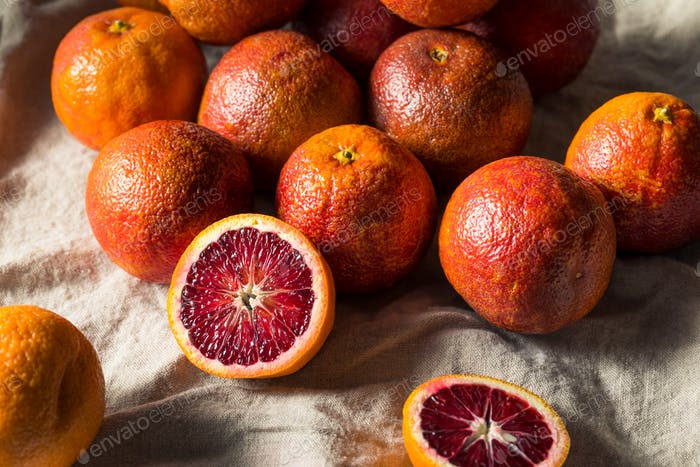 Raw Organic Red Blood Oranges