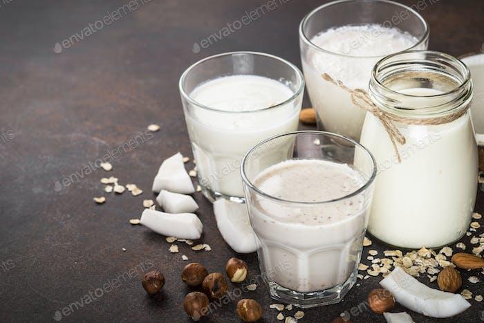 Vegane, nicht milchige Alternativmilch