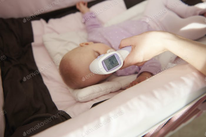 Control temperature of little girl