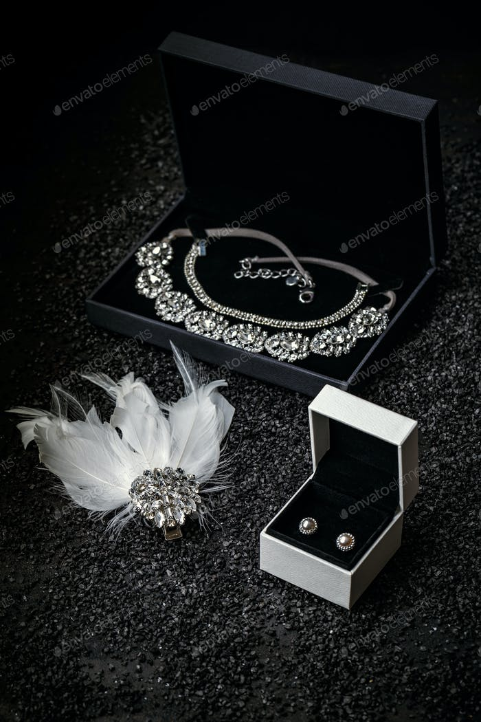 Woman's jewelry, beautiful rhinestone