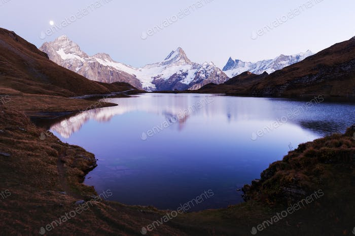 Picturesque view on Bachalpsee lake