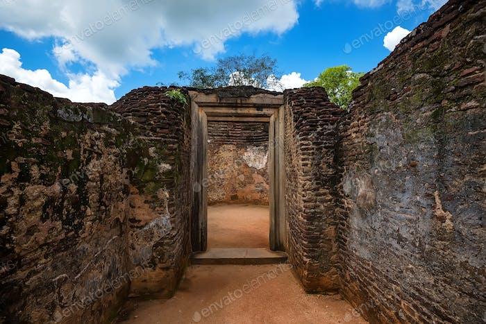 Ruins of Potgul Vehera in Polonnaruwa