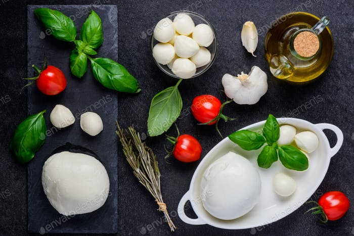 Mozzarella Cheese and Cooking Ingredients
