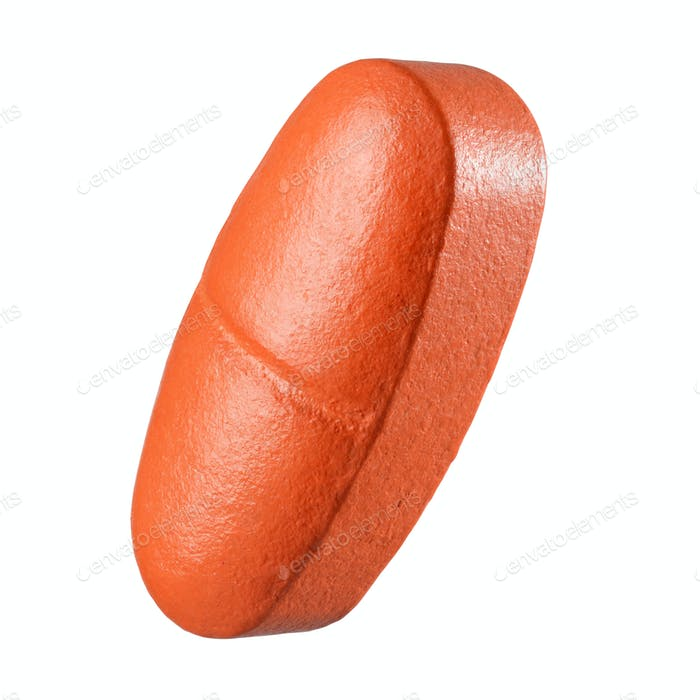 Orange pill isolated