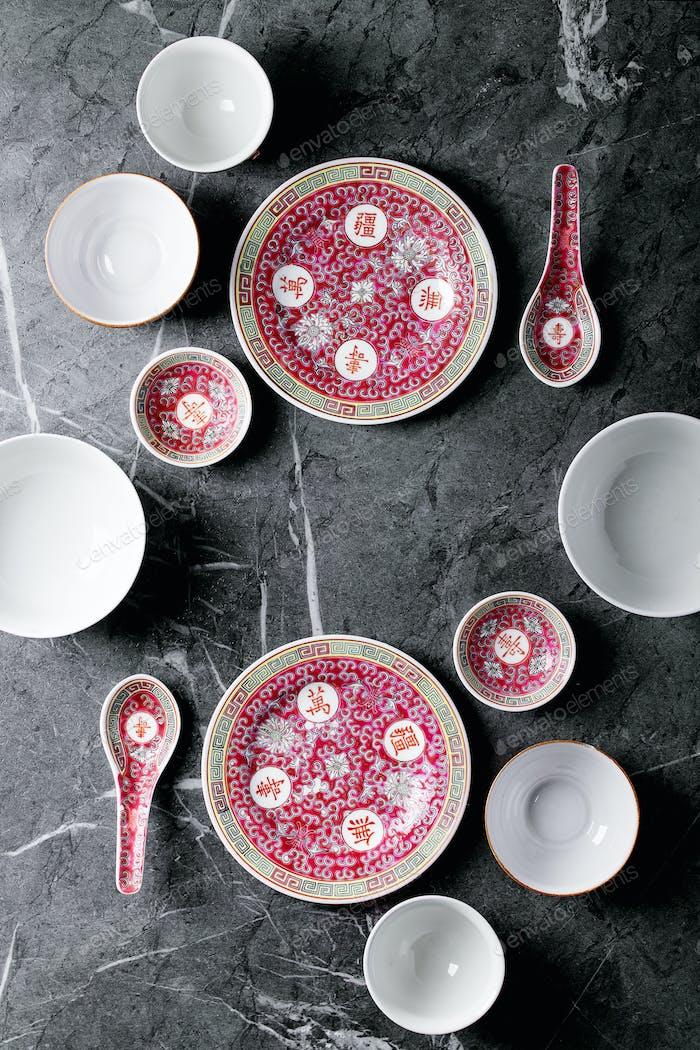 Vielfalt der leeren chinesischen Keramikplatte