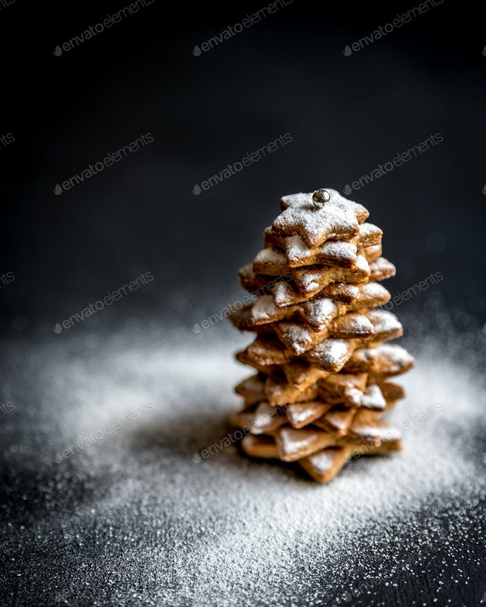 Homemade sweet Christmas tree