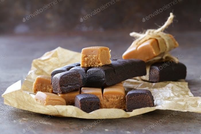 Caramel and Chocolate Toffee