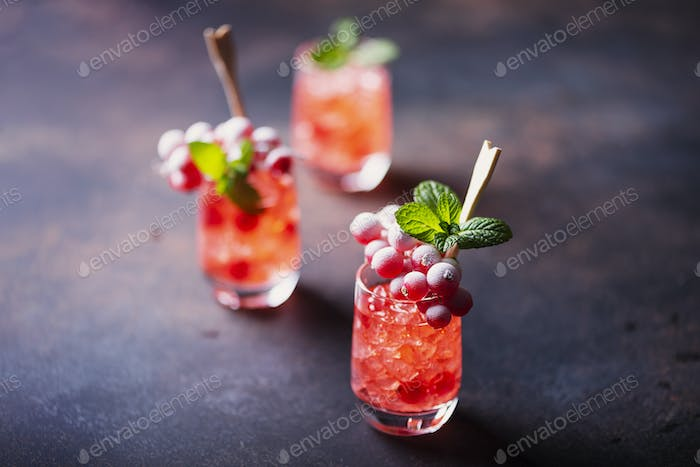 Alcoholic shot with currant