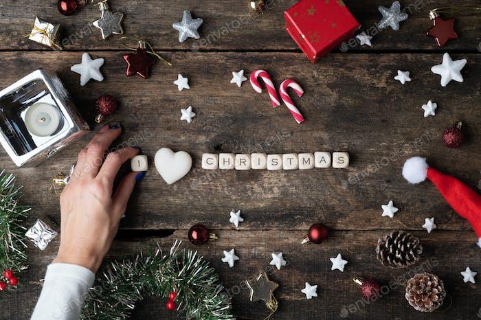 I love Christmas sign