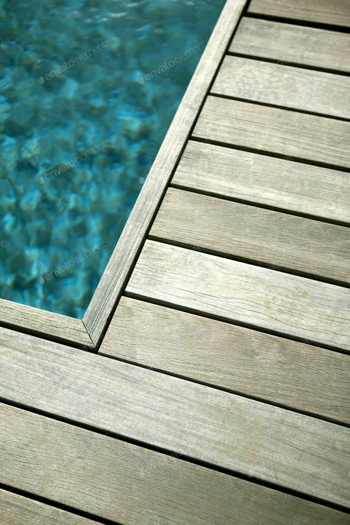 Pool wooden terrace
