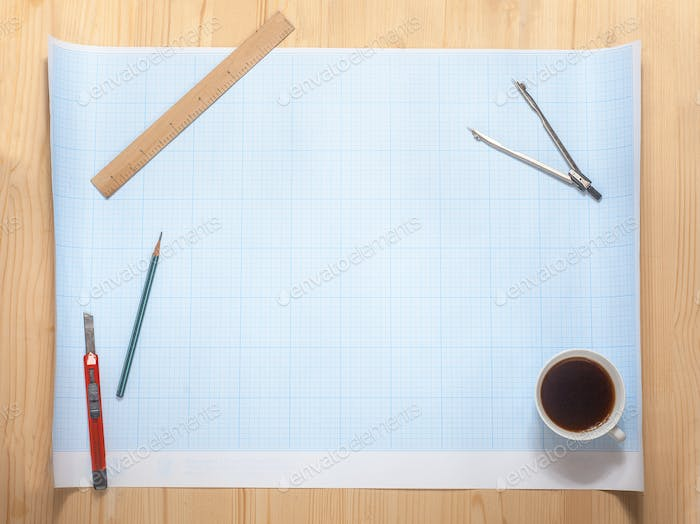blank of the blueprint on workspace