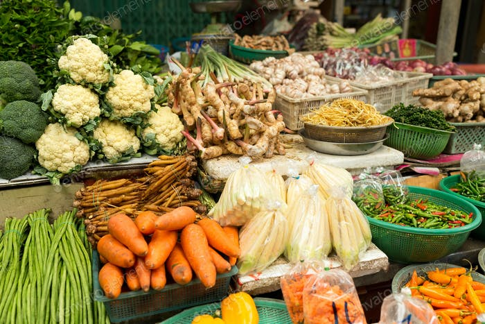 Various vegetables on market