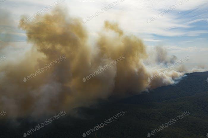Extremely Large Bushfire Aerial Shot