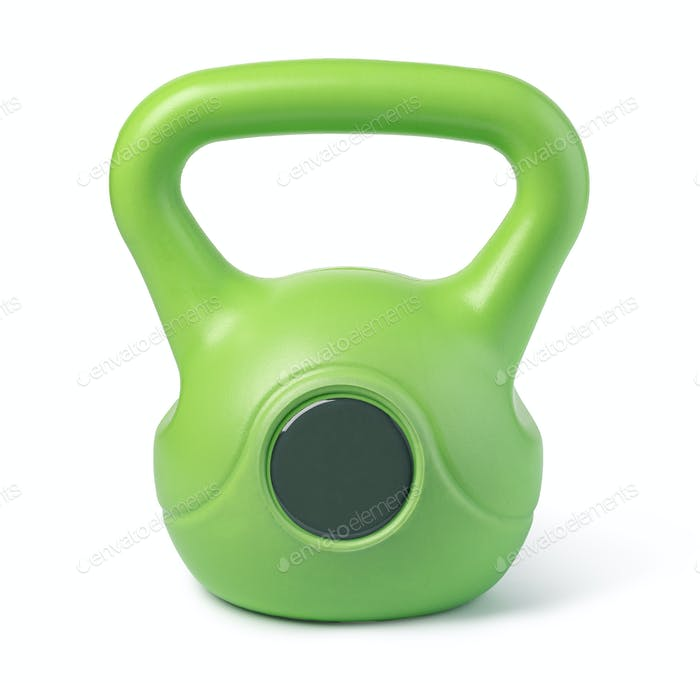 kettlebell on white background