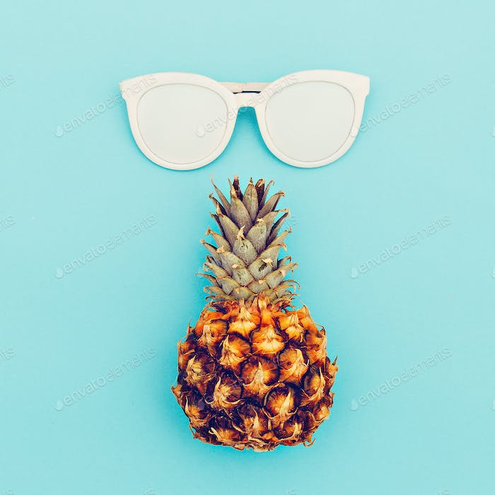 Sunglasses and pineapple fashion accessory summer.