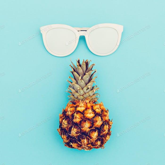 Sunglasses and pineapple fashion accessory summer.