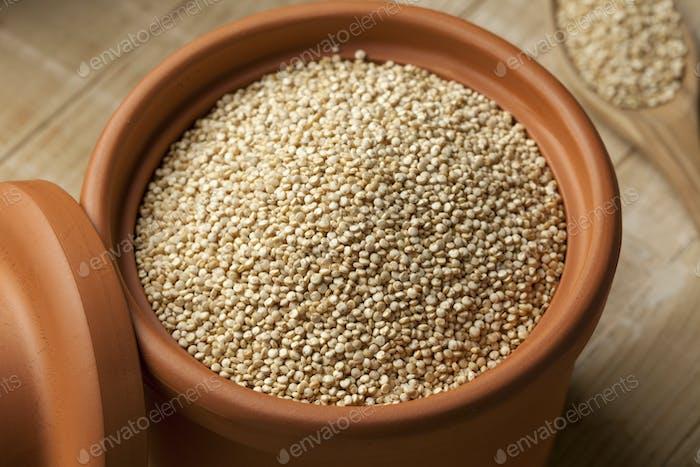 White Quinoa in a jar