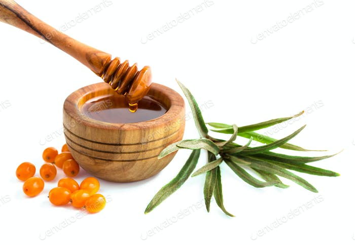 Sea buckthorn oil isolated