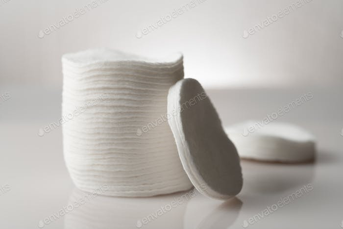 Stack of adsorbent cotton pads