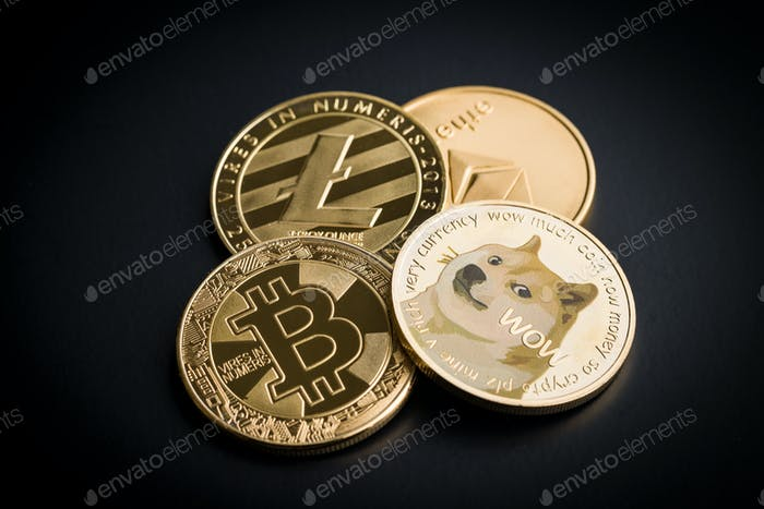 Dogecoin, litecoin, etheteum and bitcoin.