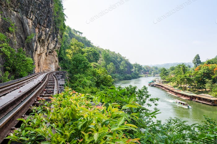 Death Railway bridge over the Kwai Noi river