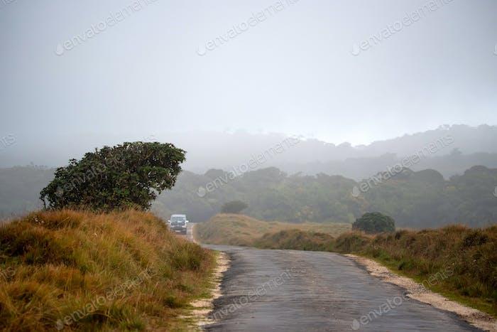 Straße, die nach Horton Plains, Sri Lanka führt