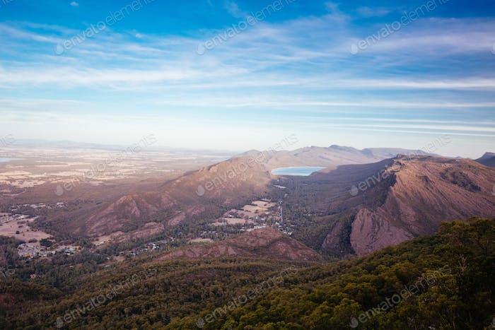 Grampians Landscape from Boroka Lookout in Victoria Australia