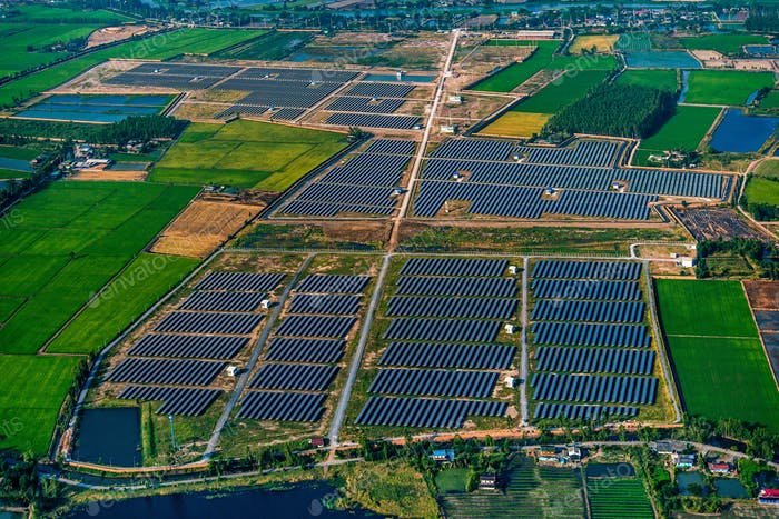 Solar farm, solar panels high efficiency solar power system