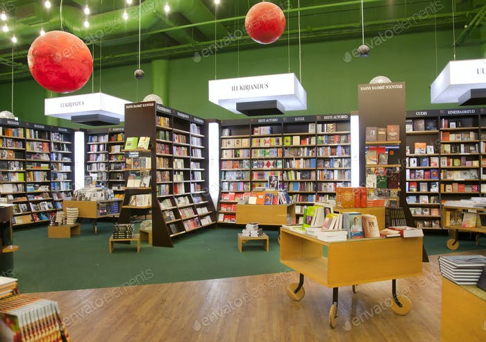Spacious Bookstore Interior