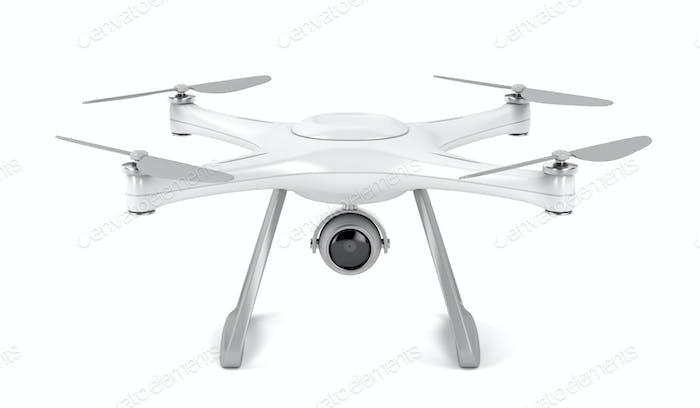 Drone on white background