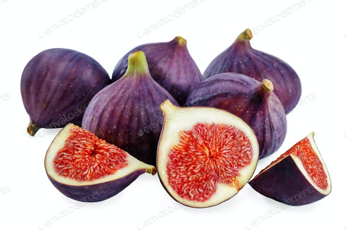 Fresh Figs fruits on a white background
