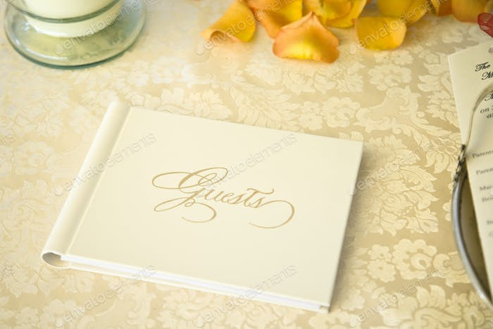45653,Guestbook on a Table