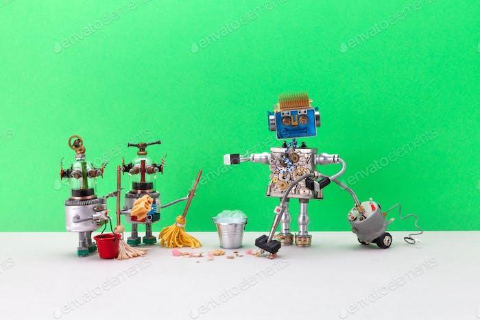 Роботы очистители с пылесосом