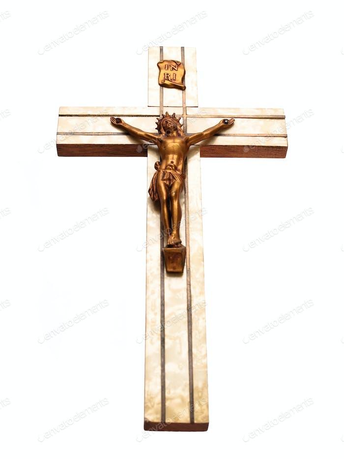 Antikes Kruzifix Vorderansicht