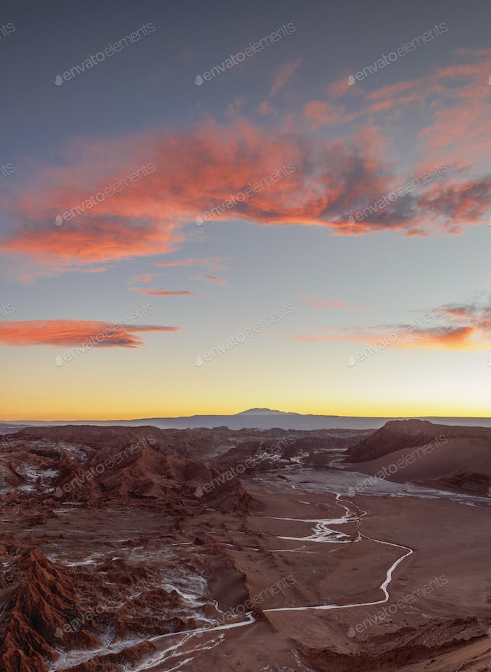 Moon Valley, Atacama Desert in Chile