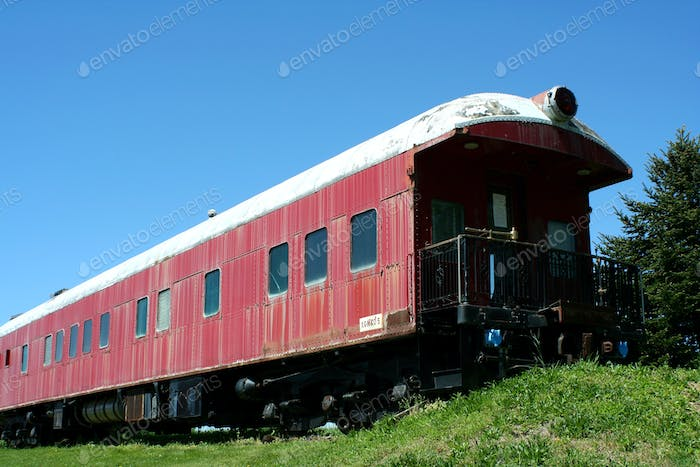 Old passenger train car