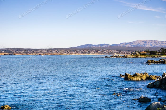View towards Monterey bay from Lovers Point, Pacific Grove, California
